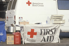 First Aid booth Stock Images