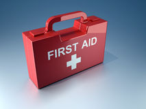 First aid box. 3d render illustration of a first aid box Royalty Free Stock Image