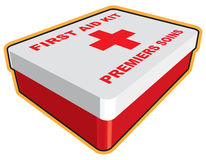 First Aid Box. First Aid kit illustration in 3D Stock Photos