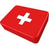 First aid box. Isolated on white background, abstract vector art illustration Stock Photography