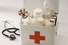 First aid box. First aid box in white background Royalty Free Stock Photo