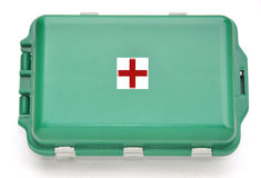 First aid box. Kit on white background Royalty Free Stock Photos
