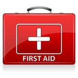 First Aid Box. Illustration of first aid box on white background Stock Photo