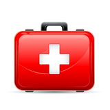 First Aid Box. Vector illustration of first aid box on white background Stock Photo