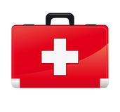 First aid box. On white background Royalty Free Stock Images