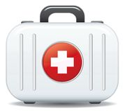 First aid box. Icon in vector format Royalty Free Stock Photos