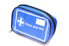 First aid box. Isolated on white background Stock Photo