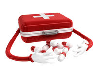 First aid box. 3d high quality rendering Royalty Free Stock Photography