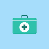First aid box flat icon Royalty Free Stock Photos