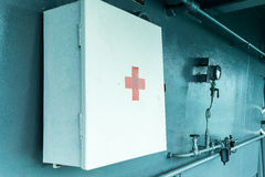 First-aid box. Hang on the wall Stock Images