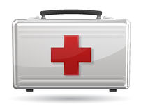 First aid box icon. On white background Royalty Free Stock Image