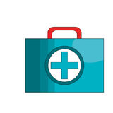 First aid box icon. Over white background. vector illustration Royalty Free Stock Photography