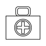 First aid box icon. Over white background. vector illustration Stock Photography