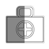 First aid box icon. Over white background. vector illustration Stock Photo