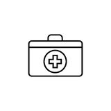 First aid box line icon Stock Photography