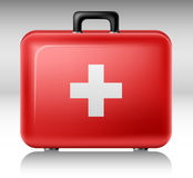 First aid box. Red First aid box with white cross Royalty Free Stock Photo