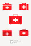 First Aid Box Set. Set of first aid box illustration vector Royalty Free Stock Photo