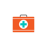 First aid box solid icon, medical case and bag. Vector graphics, a colorful linear pattern on a white background, eps 10 Royalty Free Stock Photography