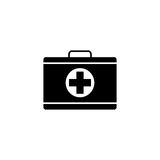 First aid box solid icon, medical case and bag. Vector graphics, a filled pattern on a white background, eps 10 Royalty Free Stock Photos