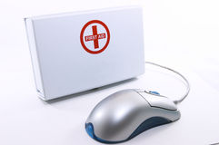 Free First Aid Box Standing Up With Mouse Royalty Free Stock Images - 1015949
