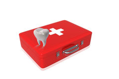 First aid box and Teeth. Digital illustration of First aid box and Teeth Stock Photography