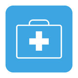 First Aid Box. Vector icon of First Aid Box isolated Stock Photo