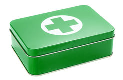 A first aid box. On a white background Stock Photos