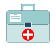 First aid box on white background. Vector illustration of first aid box on white background Royalty Free Stock Images