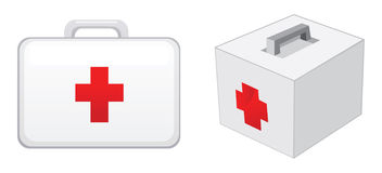 First aid boxes Stock Image