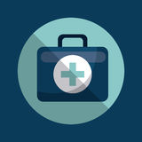 First aid briefcase icon Royalty Free Stock Photo