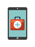 First aid briefcase icon Stock Photography