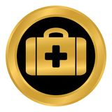 First aid button. First aid button on white background. Vector illustration Royalty Free Stock Image