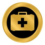 First aid button. First aid button on white background. Vector illustration Stock Photo
