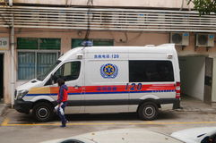 120 first aid car. At the Shenzhen hospital, China Stock Image