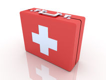 First aid case. 3D rendered Illustration.First aid case Stock Image