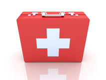 First aid case. 3D rendered Illustration.First aid case Stock Images