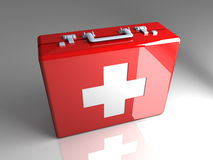 First aid case. 3D rendered Illustration.First aid case Royalty Free Stock Photography