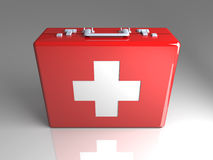 First aid case. 3D rendered Illustration.First aid case Royalty Free Stock Image