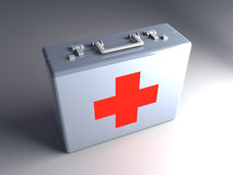 First aid case. 3D rendered Illustration.First aid case Royalty Free Stock Photos