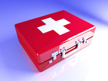 First aid case. 3D rendered Illustration. A first aid case Royalty Free Stock Photo