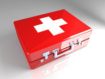 First aid case. 3D rendered Illustration. First aid case Royalty Free Stock Photography