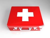 First aid case. 3D rendered Illustration. First aid case Stock Image