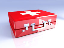 First aid case Stock Image