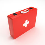 First aid case. On white background Stock Photography