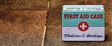 First aid case Royalty Free Stock Image