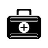 First aid case medical emergency pictogram. Vector illustration eps 10 Royalty Free Stock Images