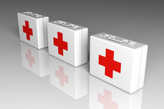 First aid cases. 3D rendered Illustration.First Aid Cases Royalty Free Stock Images