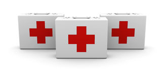 First aid cases Stock Photography