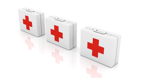 First aid cases Stock Photo