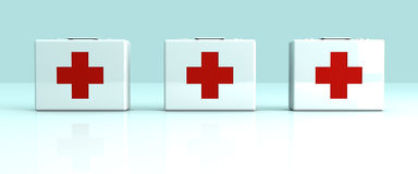 First aid cases. 3D rendered Illustration.First aid cases Stock Image